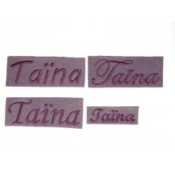 Appliqué, patch prénoms Carnet de santé, Taïna