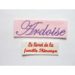 Appliqué, patch prénoms Ardoise, Le livret de la famille Thimonga, Passeport