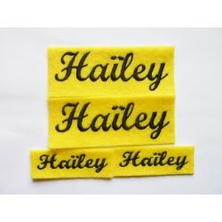 Appliqué, patch prénoms Différents Haïley, Ilaïa, Adèle, Keylani et Marshall