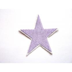Broderie étoile mauve