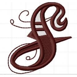 Appliqué, patch lettres majuscules S et T