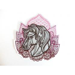 Ecusson thermocollant tête de cheval 2 (horse)
