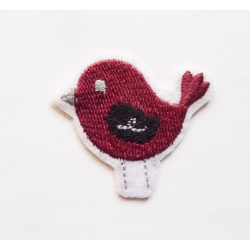 Patch thermocollant petit oiseau bordeau