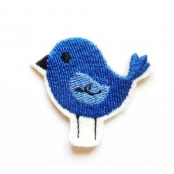 Patch thermocollant petit oiseau bleu et noir