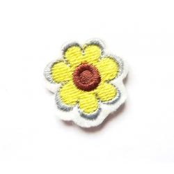 Appliqué thermocollant logo petite fleur jaune