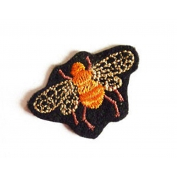 Appliqué thermocollant petite mouche beige, orange, marron