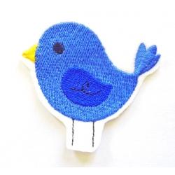 Patch thermocollant oiseau bleu