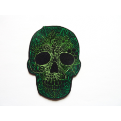 Patch thermocollant tête de mort verte