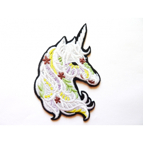 Patch thermocollant tête de licorne