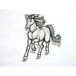 Ecusson thermocollant cheval au galop