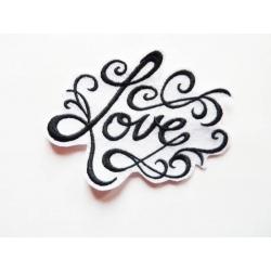 Appliqué patch thermocollant love et arabesques