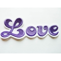 Appliqué patch thermocollant love en grosses lettres