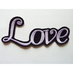 Appliqué patch thermocollant love en grosses lettres fines