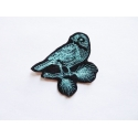 Patch thermocollant oiseau bleu perché (bird)