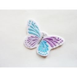 Patch thermocollant papillon bleu et mauve