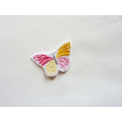 Patch thermocollant petit papillon rose et jaune