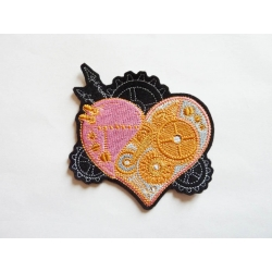 Patch thermocollant coeur steampunk