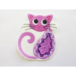 Patch thermocollant chat feuille