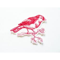 Oiseau redwork thermocollant