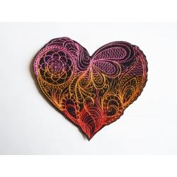 Pensez à la Saint Valentin ! Coeur mendhika 3 couleurs thermocollant