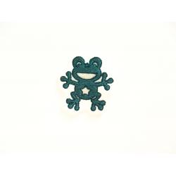 Appliqué patch thermocollant petite grenouille
