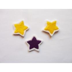 3 Appliqués thermocollants petites étoiles