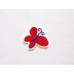 Appliqué thermocollant petit papillon rouge et violet