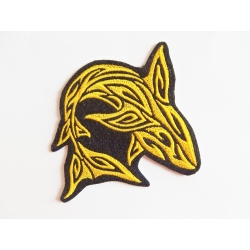 Patch thermocollant silhouette requin jaune