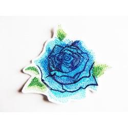 Appliqué, patch rose bleue