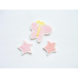 Patch thermocollant petites étoiles et papillon