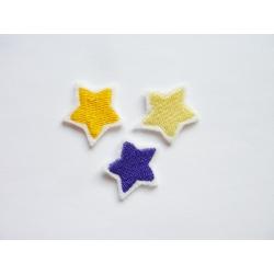 Patch thermocollant lot de 3 petites étoiles