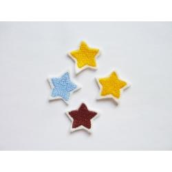 Patch thermocollant lot de 4 petites étoiles