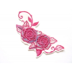 Patch thermocollant roses et feuilles