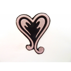 Patch thermocollant coeur rose