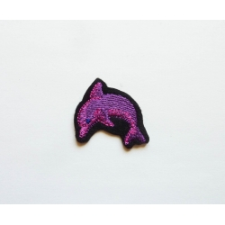 Appliqué patch thermocollant dauphin rose