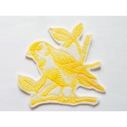Appliqué thermocollant oiseau jaune
