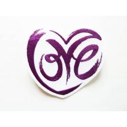 Appliqué patch thermocollant love dans un coeur