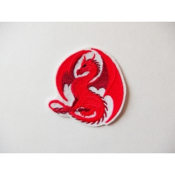 Ecusson broderie dragon rouge