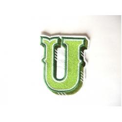 Appliqué, patch lettre majuscule U