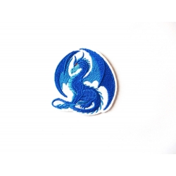 Ecusson broderie dragon bleu