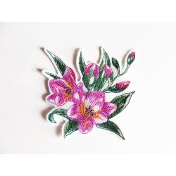 Appliqué fleur, patch bouquet de freesias