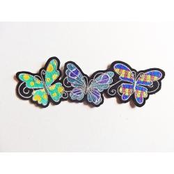 Appliqué patch thermocollant 3 papillons en bordure