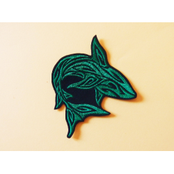 Patch thermocollant silhouette requin vert