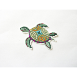 Tortue multicolore thermocollante