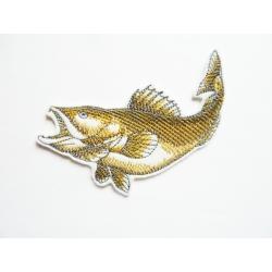 Appliqué poisson jaune-doré thermocollant