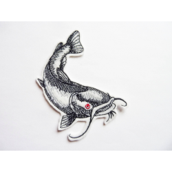 Appliqué poisson-chat (silure) thermocollant