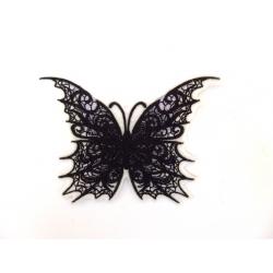 Appliqué patch thermocollant papillon gris et noir