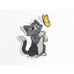 Patch thermocollant chat et papillon
