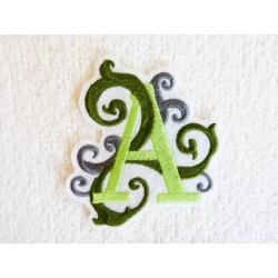 Appliqué, patch lettre majuscule A