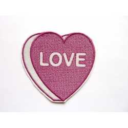 Patch thermocollant coeur love